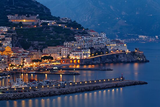 Amalfi Night Vista by George Oze