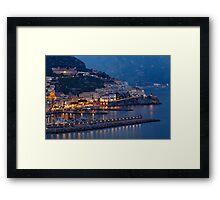 Amalfi Night Vista Framed Print