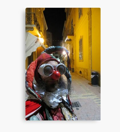 Jester in Cyprus Canvas Print