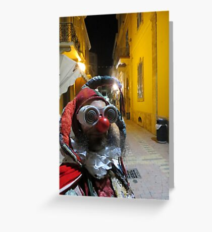 Jester in Cyprus Greeting Card