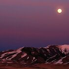 sunset moon by DonActon