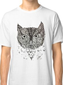 Whiskered Screech Owl Classic T-Shirt