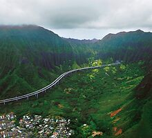 H3 And Ko'olau Range by Alex Preiss