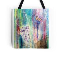 Taraxacum Glow Layered Beeswax Art Tote Bag