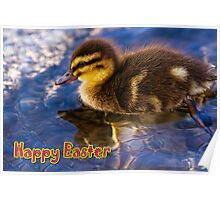 Happy Easter (Swimming Duckling) Poster