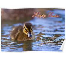 Happy Easter Ducky Poster