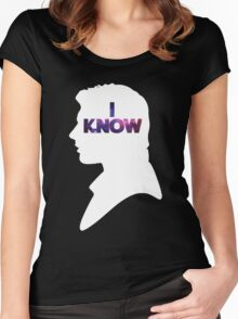 Star Wars Han 'I Know' White Silhouette Couple Tee  Women's Fitted Scoop T-Shirt