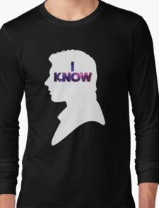 Star Wars Han 'I Know' White Silhouette Couple Tee  Long Sleeve T-Shirt