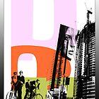 Cityscape Collage by Glenn Launerts