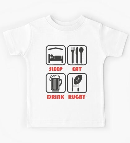 EAT SLEEP RUGBY Kids Tee