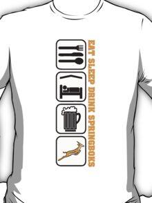 EAT SLEEP Springbok Rugby T-Shirt