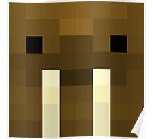 Trottimus Minecraft skin - Chris Trott face Poster