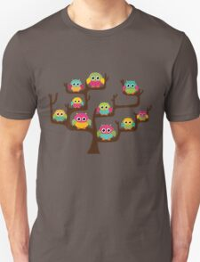 Rainbow Owls Unisex T-Shirt