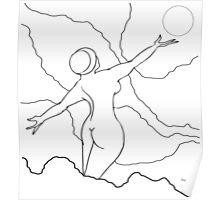 Free Spirit Digital Line drawing Poster
