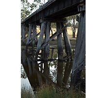 Old Rail Bridge Cavendish Victoria  Photographic Print