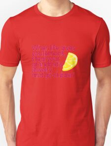 When Life gives you Lemons Parks and Rec quote T-Shirt