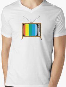 Retro TV Mens V-Neck T-Shirt