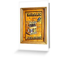 Trumans Ales and Stouts Greeting Card