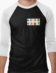 pokemon kanto badges Men's Baseball ¾ T-Shirt
