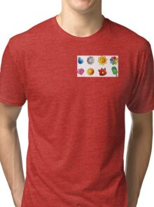 pokemon kanto badges Tri-blend T-Shirt