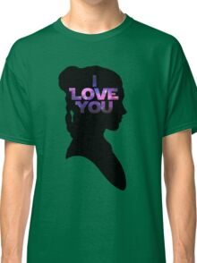 Star Wars Leia 'I Love You' Black Silhouette Couple Tee Classic T-Shirt
