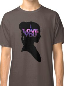 Star Wars Leia 'I Love You' Black Silhouette Couple Tee Classic T-Shirt