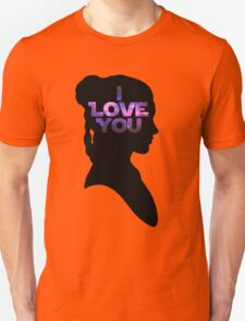 Star Wars Leia 'I Love You' Black Silhouette Couple Tee T-Shirt