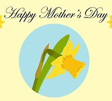 Happy Mother's Day / Single Daffodil by Jacqueline Turton