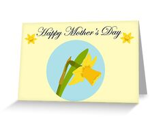 Happy Mother's Day / Single Daffodil Greeting Card