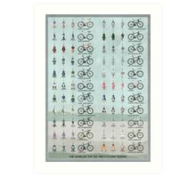 Pro Cycling Teams Art Print