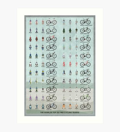 Pro Cycling Teams Art Print