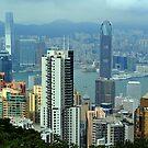 View From The Peak. Hong Kong. by Ralph de Zilva