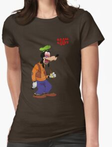 Booze Goofy Womens Fitted T-Shirt