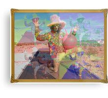 Psychedelic Space Hopper Metal Print