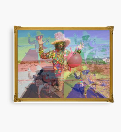 Psychedelic Space Hopper Canvas Print