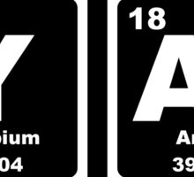 Yar - Periodic Table Sticker
