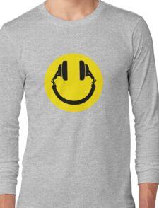 Smiley headphones Long Sleeve T-Shirt