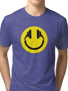 Smiley headphones Tri-blend T-Shirt