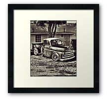 Old Timey Truck Zoomer Framed Print