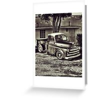 Old Timey Truck Zoomer Greeting Card