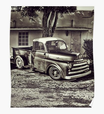 Old Timey Truck Zoomer Poster
