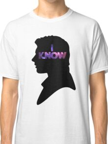 Star Wars Han 'I Know' Black Silhouette Couple Tee Classic T-Shirt