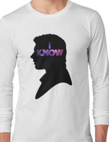 Star Wars Han 'I Know' Black Silhouette Couple Tee Long Sleeve T-Shirt
