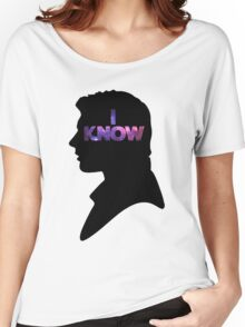 Star Wars Han 'I Know' Black Silhouette Couple Tee Women's Relaxed Fit T-Shirt