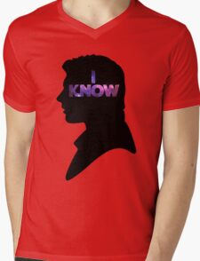 Star Wars Han 'I Know' Black Silhouette Couple Tee Mens V-Neck T-Shirt