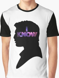Star Wars Han 'I Know' Black Silhouette Couple Tee Graphic T-Shirt