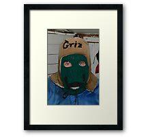 Griz' Winter Hat Framed Print