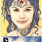 Wonder Woman sketchcard by wu-wei