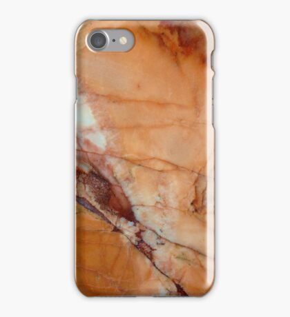 Orange Red and White Marble iPhone Case/Skin