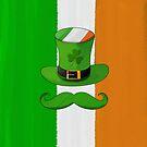 Ireland Flag & Shamrock Leprechaun Hat Mustache by scottorz
